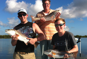 mosquito lagoon redfish triple catch