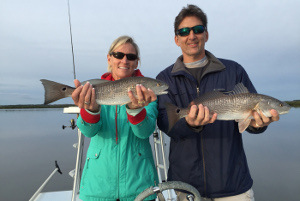redfish double from mosquito lagoon