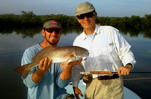 caprera redfish on fly