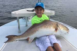 gigantic redfish caught in mosquito lagoon
