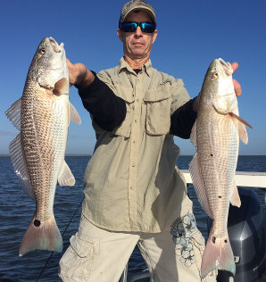 fishing trip for redfish in mosquito lagoon
