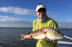 fishing red drum in mosquito lagoon
