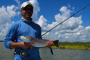 greaves redfish on fly