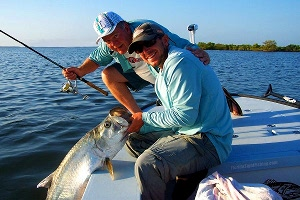 hayman with indian river lagoon tarpon