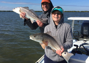 winter redfish charter mosquito lagoon