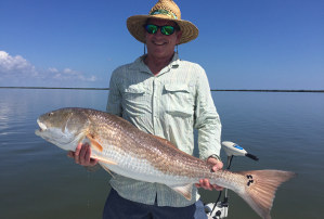 fishing charter for bull reds in mosquito lagoon