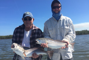 march redfish in mosquito lagoon