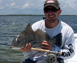 nate black drum on fly