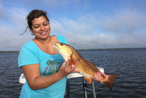 fishing charter in mosquito lagoon for red drum