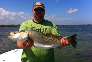 9 pound speckled trout mosquito lagoon