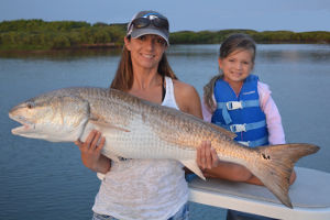 catching big redfish near ponce inlet