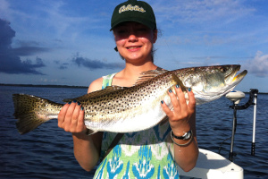 gator trout caught in mosquito lagoon