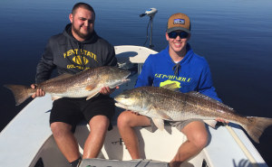 trophy redfish double up indian river lagoon