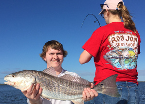 spring redfish trip to mosquito lagoon