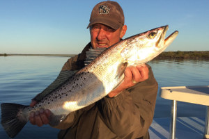 big trout caught fishing mosquito lagoon