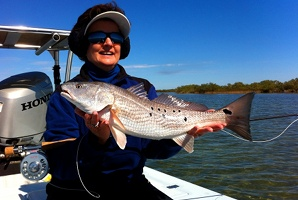 elwood redfish on fly