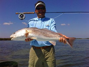 taylor redfish on fly